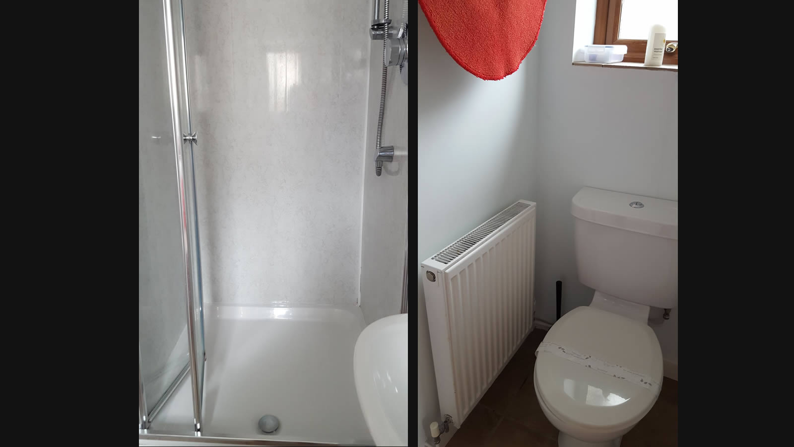 Spring cottage utility room shower and WC